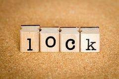 Serratura - concetti del bollo di alfabeto Fotografia Stock Libera da Diritti