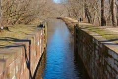 Serratura del canale Immagini Stock