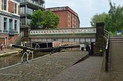 Serratura del castello nel centro urbano di Nottingham fotografie stock
