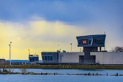 Serratura del porto di Chicago immagini stock libere da diritti