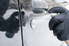 Serratura dell'automobile di sbrinamento Immagini Stock