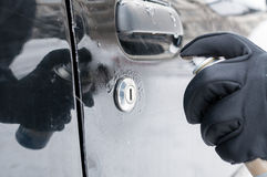 Serratura dell'automobile di sbrinamento Fotografia Stock