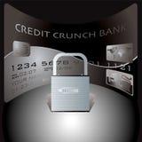 Serratura della carta di credito Fotografia Stock Libera da Diritti