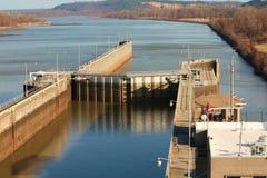 Serratura della nave del fiume di Arkansas Fotografie Stock Libere da Diritti