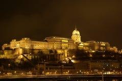 Serratura di Buda nella notte Immagine Stock Libera da Diritti
