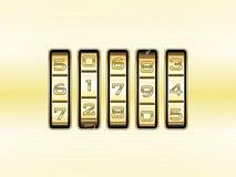 Serratura di combinazione del metallo dell'oro - codice di numero Fotografie Stock