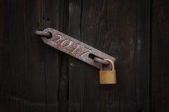2017, serratura di porta Fotografia Stock