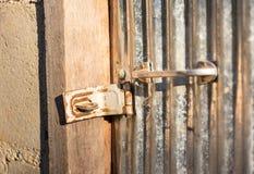 Serratura di porta del primo piano Fotografia Stock Libera da Diritti