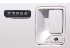 Serratura di porta dell'automobile di combinazione Fotografia Stock