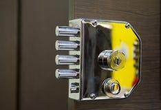 Serratura di porta di sicurezza Fotografia Stock