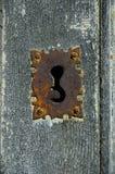 Serratura di portello arrugginita Fotografia Stock Libera da Diritti
