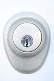 Serratura di portello con il buco della serratura Immagine Stock