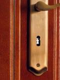 Serratura di portello di legno Immagini Stock