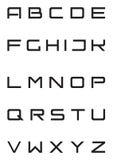 Serratura di protezioni rigorosa della fonte tipografica di alfabeto sopra   Fotografia Stock Libera da Diritti