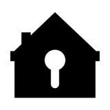serratura di sicurezza della casa con il buco della serratura Fotografia Stock