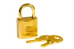 Serratura dorata immagini stock libere da diritti