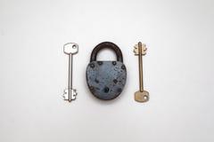 Serratura e chiavi Fotografia Stock