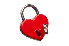 Serratura a forma di del cuore fotografia stock