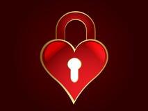 Serratura a forma di del cuore Immagini Stock