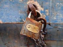 Serratura macchiata Fotografie Stock