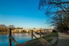 Serratura nella mattina di inverno, Londra di Richmond fotografie stock