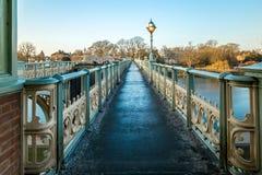 Serratura nella mattina di inverno, Londra di Richmond fotografie stock libere da diritti