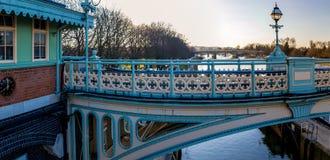 Serratura nella mattina di inverno, Londra di Richmond immagine stock
