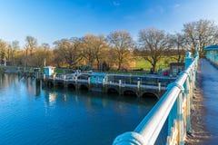 Serratura nella mattina di inverno, Londra di Richmond immagine stock libera da diritti