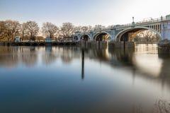 Serratura nella mattina di inverno, Londra di Richmond fotografia stock