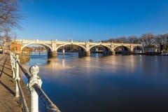 Serratura nella mattina di inverno, Londra di Richmond fotografia stock libera da diritti