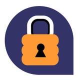 Serratura o icona chiusa dell'insieme tricolore Fotografia Stock