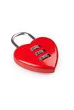 Serratura rossa a forma di del cuore Fotografie Stock