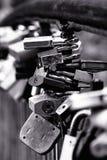 Serrature sul ponticello Fotografia Stock Libera da Diritti