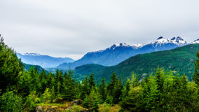 Serratus Mountain in the Coastl Mountains of British Columbia Stock Photo