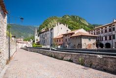 Serravalle em Vittorio Veneto, Itália imagem de stock royalty free