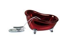 Serre-câble de dock et baquet de Bath Image stock