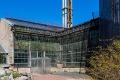 Serre chaude dans le jardin botanique de sankt-peterburg Photo stock
