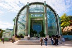 Serre chaude dans le Jardin des Plantes à Paris images stock