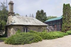 Serre chaude et chaufferie du vieux jardin botanique Photographie stock libre de droits