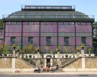 Serre chaude pourprée dans DES Plantes, Paris de Jardin Image libre de droits