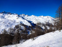 Serre Chevalier Vallée. Winter holiday in France 2014 ski resort Royalty Free Stock Image