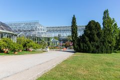 Serre in de botanische tuin van Berlijn Royalty-vrije Stock Foto's