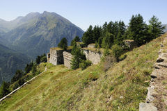 Serre Marie fort - Italy - 1892 Stock Image