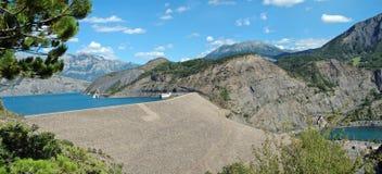 Serre-Ponçon panorama (Alpes - France) Stock Images