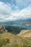 Serre-Ponçon lake in Alps Stock Image