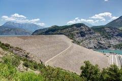 Serre-Poncon湖- Alpes -法国 免版税库存照片