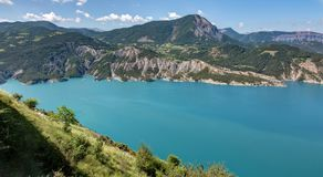 Serre-Poncon λίμνη - Alpes - Γαλλία Στοκ Εικόνες