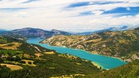 Serre-Poncon lake. A view of Serre Poncon lake, France Stock Image