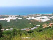 Serre su Creta, Falasarna Immagini Stock Libere da Diritti