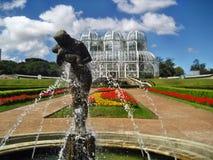 Serre van de Curitiba de botanische fontein Stock Afbeeldingen